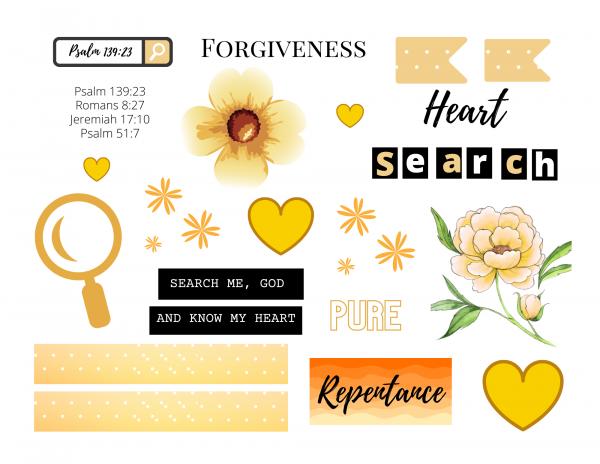 Bible page kit, Psalm 139:23
