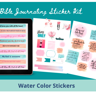 water color bible journaling stickers